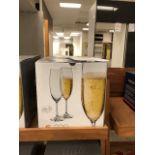 Crystalex 220ml bohemian glass flutes, 12 pcs (Lot)