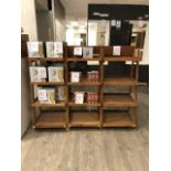 4-Shelf wooden inclined rack, section, 3 pcs (Lot)