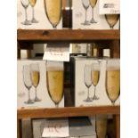 Crystalex 220ml bohemian glass flutes, 24 pcs (Lot)