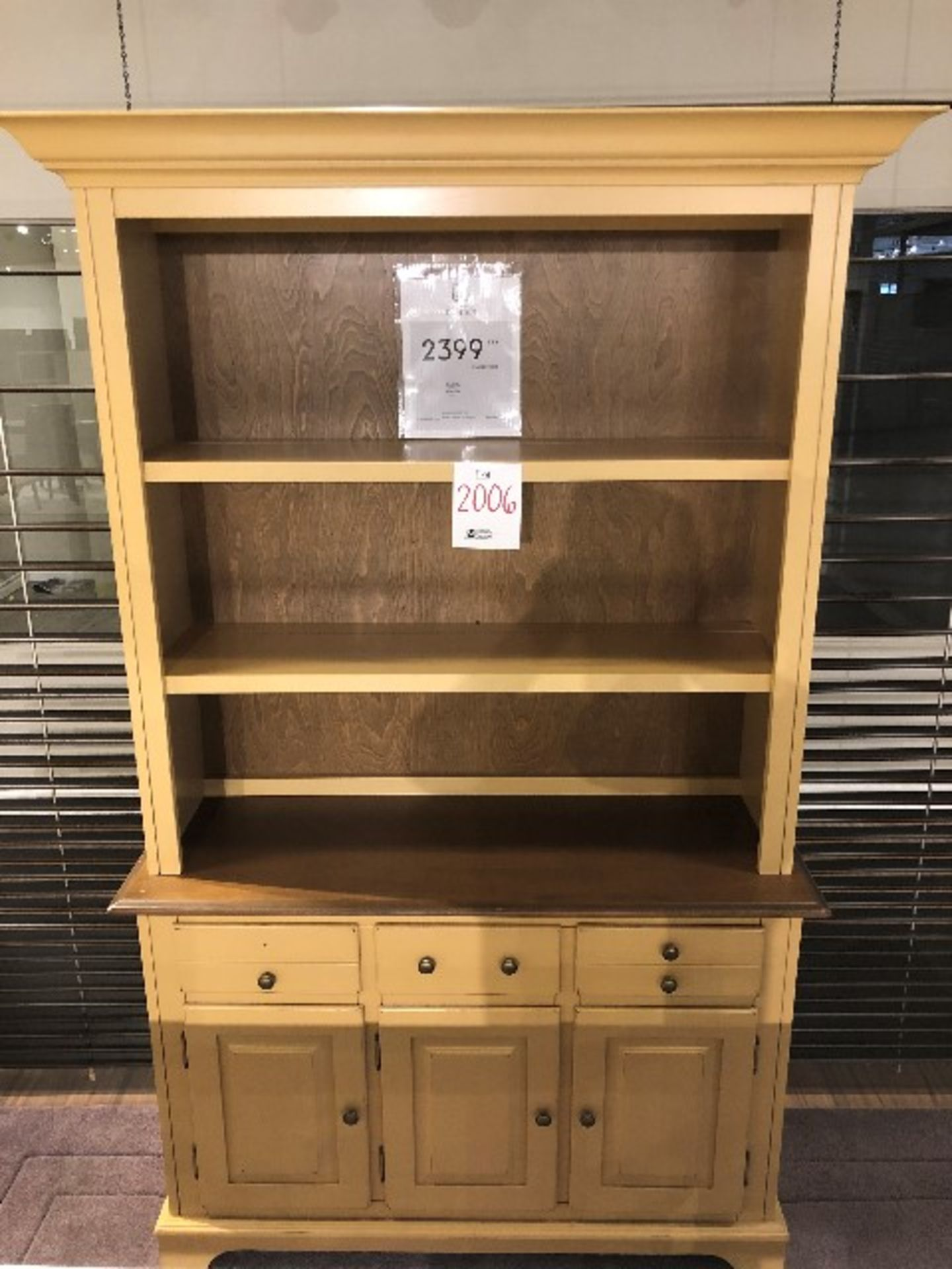 "Lot 2006 - Buffet hutch cabinet, 48""x17""x80"""