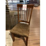 Velour chairs w/open back, 2 pcs