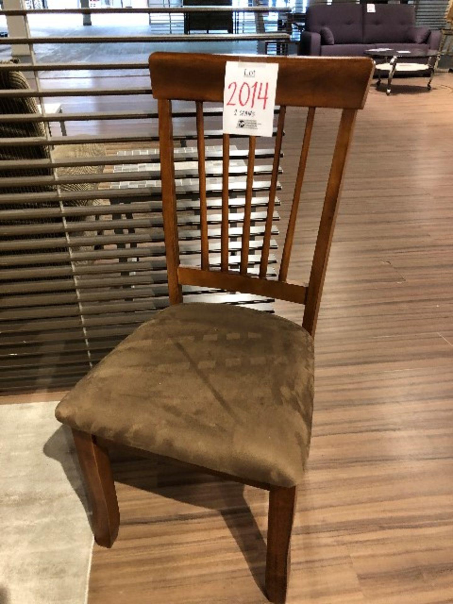 Lot 2014 - Velour chairs w/open back, 2 pcs