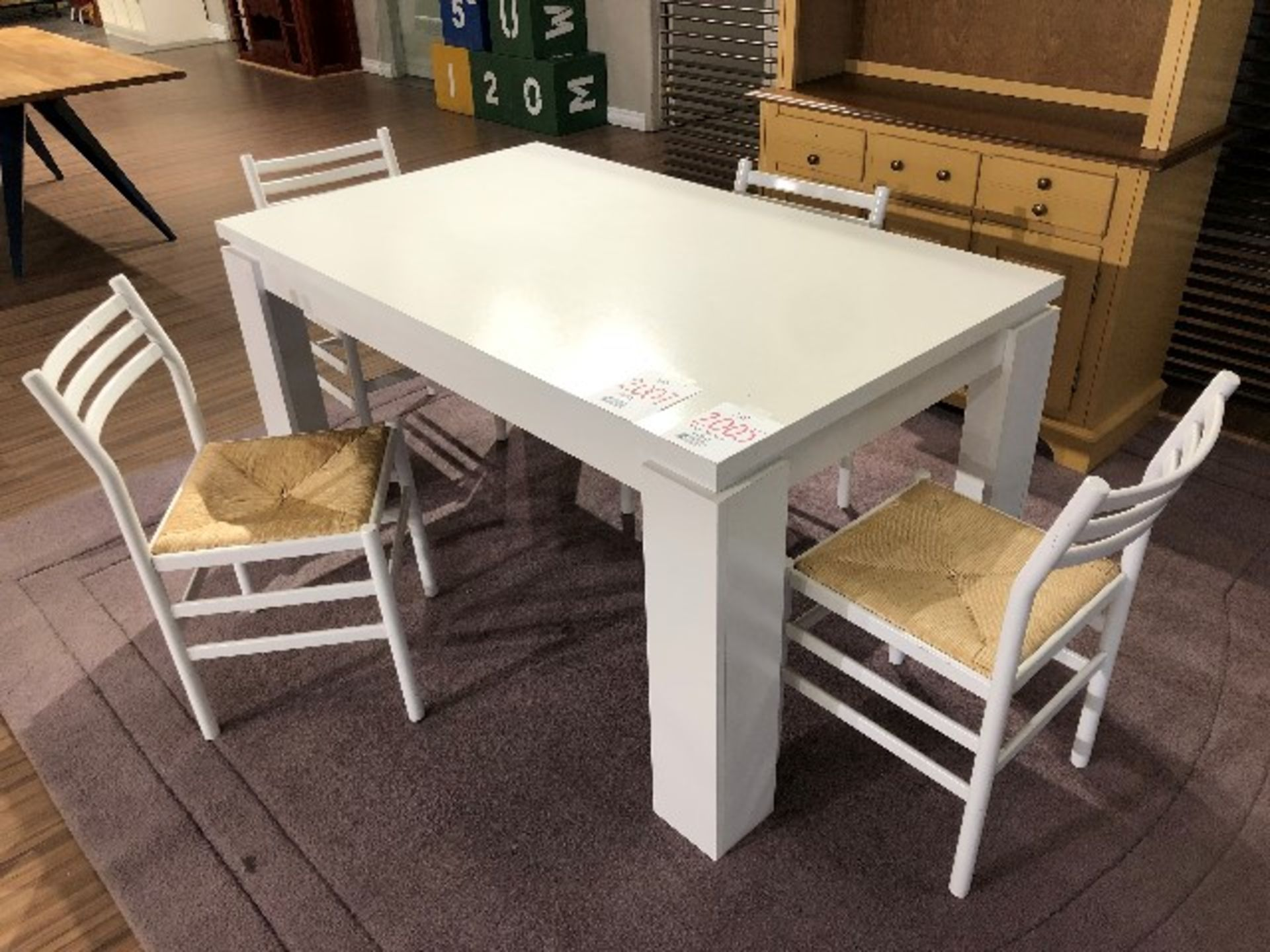"""Lot 2005 - Dining set, table & 4 chairs, 59""""x39"""", 5 pcs (Lot)"""