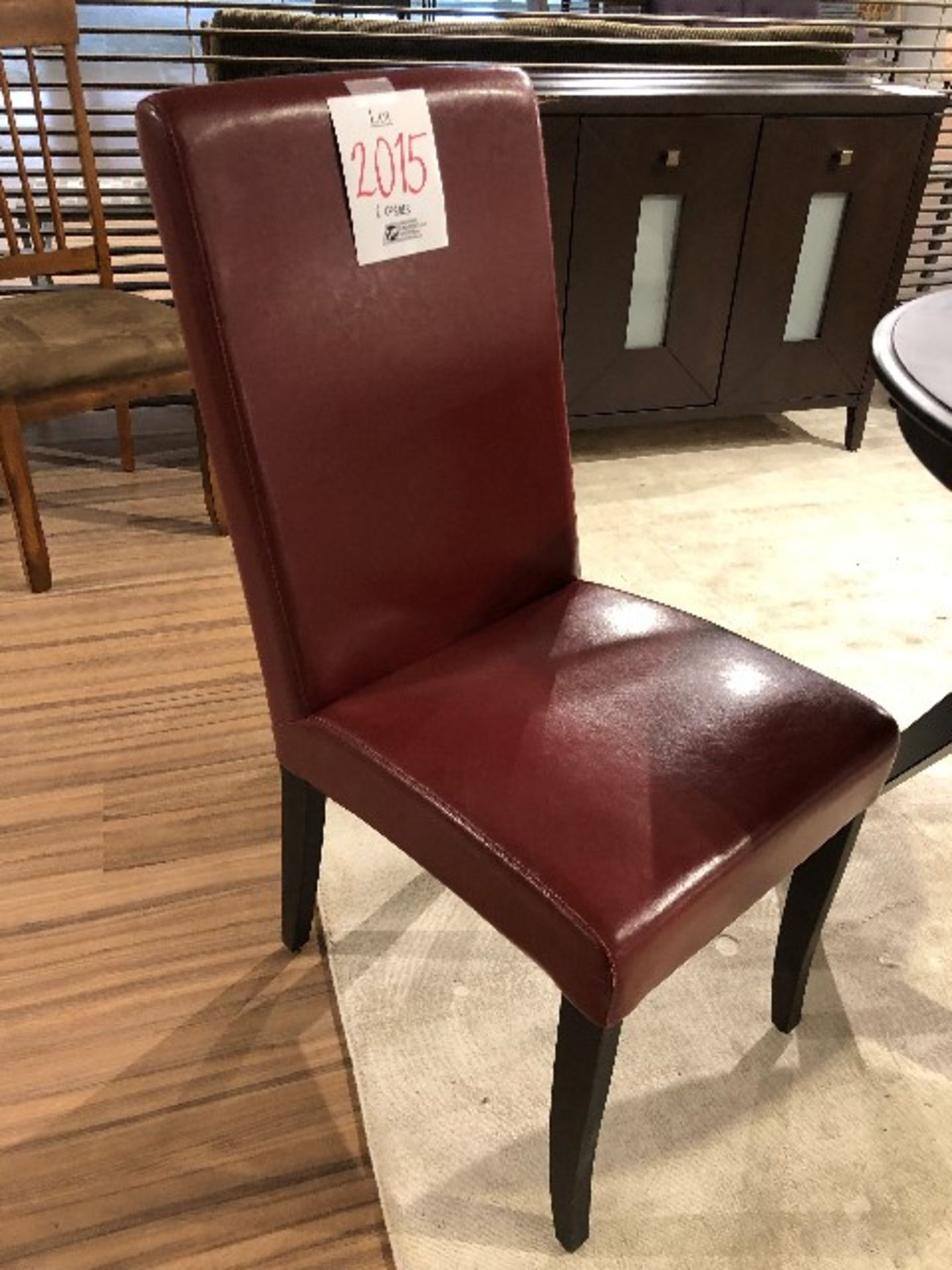 Lot 2015 - Parsons chairs, red, 2 pcs