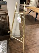 Chevalet, metal easel