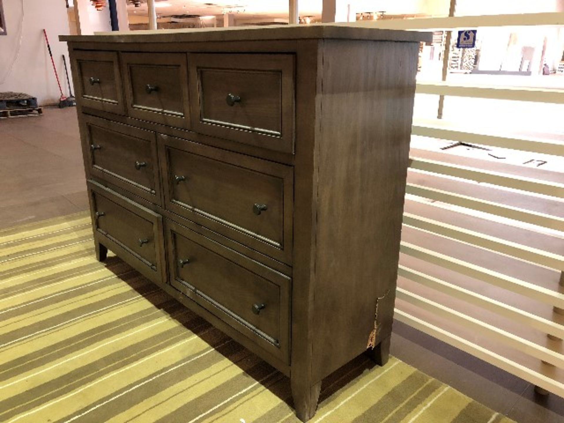 "Lot 2001 - Console cabinet, 61""x17""x42, Showroom demo, AS IS/TEL QUEL"