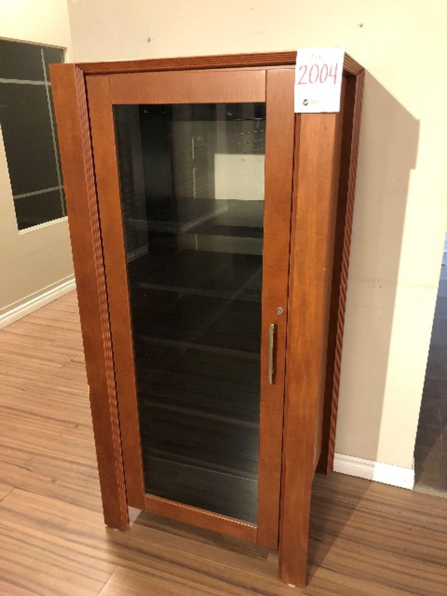"""Lot 2004 - Audio/video cabinet unit, 32""""x24""""x66"""""""
