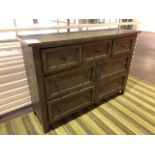 """Console cabinet, 61""""x17""""x42, Showroom demo, AS IS/TEL QUEL"""