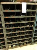 Assorted nuts & bolts, 54 bins (Lot)