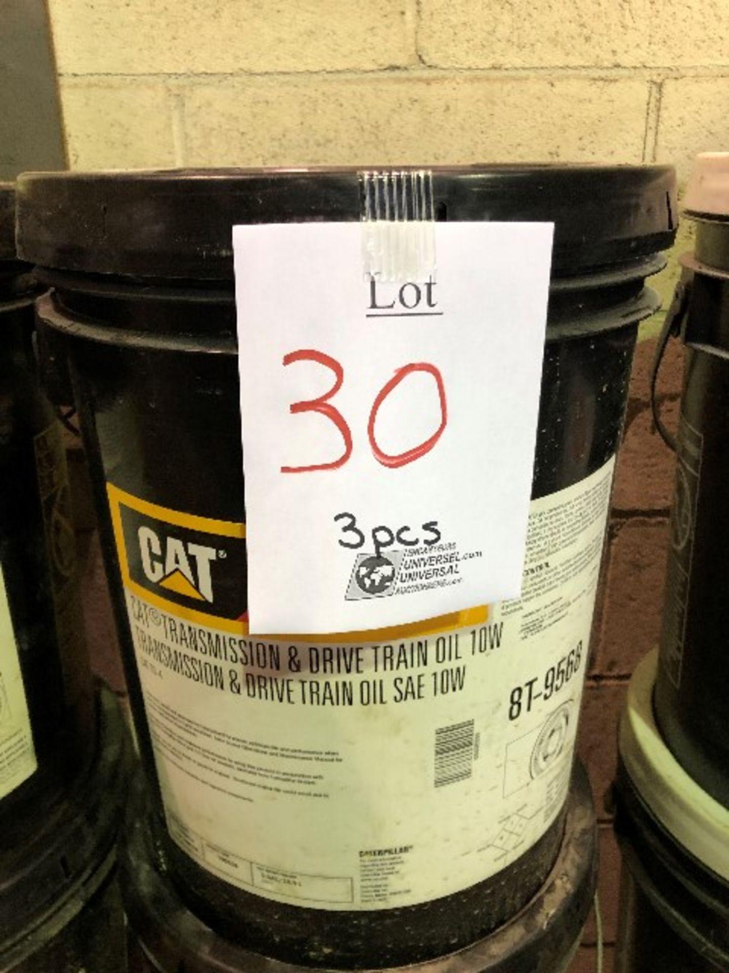 CAT Transmission & drive train oil, SAE 10W, 3 pails - Image 2 of 2