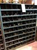 Assorted nuts & bolts, 72 bins (Lot)