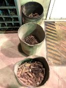 Assorted nuts & bolts, 3 pails (Lot)