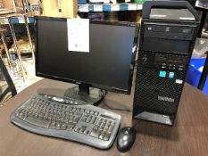 Lenovo S30 Xeon, keyboard, monitor, mouse
