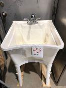 Resin sink basin w/faucet
