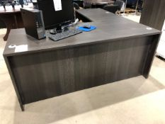 """L"" shaped office desk, approx. 71""x71"""