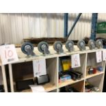 Assorted heavy duty wheels, 8pcs (Lot)