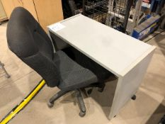 "Mobile table & chair, 36""x18"", 2pcs (Lot)"