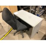 "Mobile table & chair, 36""x18"", 2pcs (Lot)"