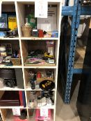 Assorted office supplies, etc..., 5 cubicles (Lot)