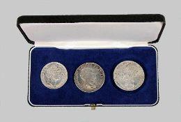 Drei Silbermünzen