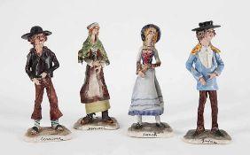 Vier skurrile Figuren