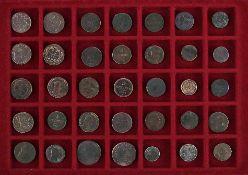 Konvolut Münzen35 Stück in Kupfer und Silber, Austria-Kreuzer, ab 1760.€ 60
