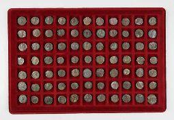 Konvolut römische Münzen77 Stück. Bronze, Alterspatina. Ca. 2.-3. Jh. n. Chr..€ 90