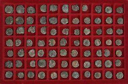 Konvolut 77 röm. BronzemünzenCa. 2.-3. Jh. n. Chr.. Fundort: Süddeutschland.€ 85