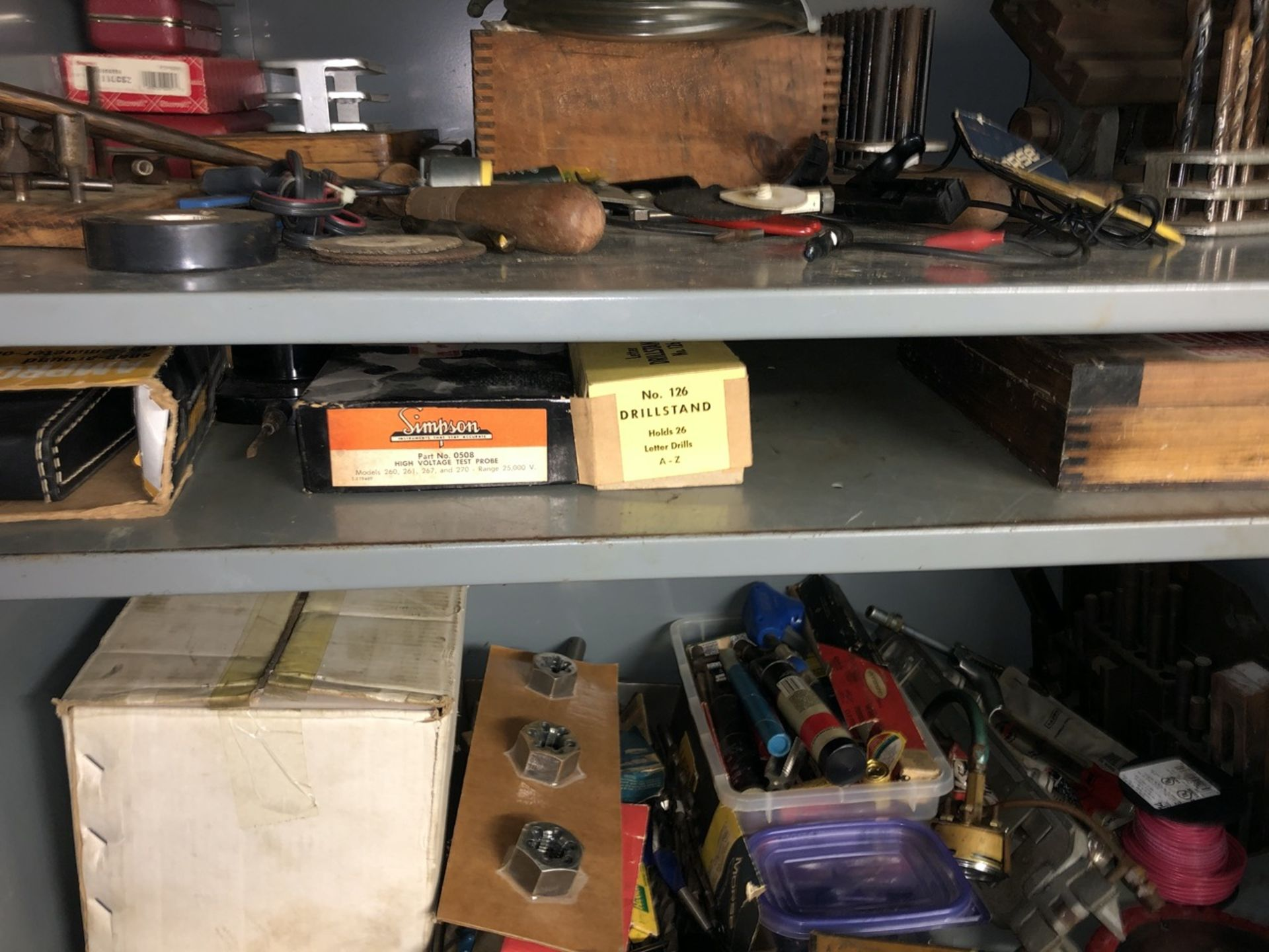 Lot 27 - Metal Cabinet w/ contents Large Lot of Tools