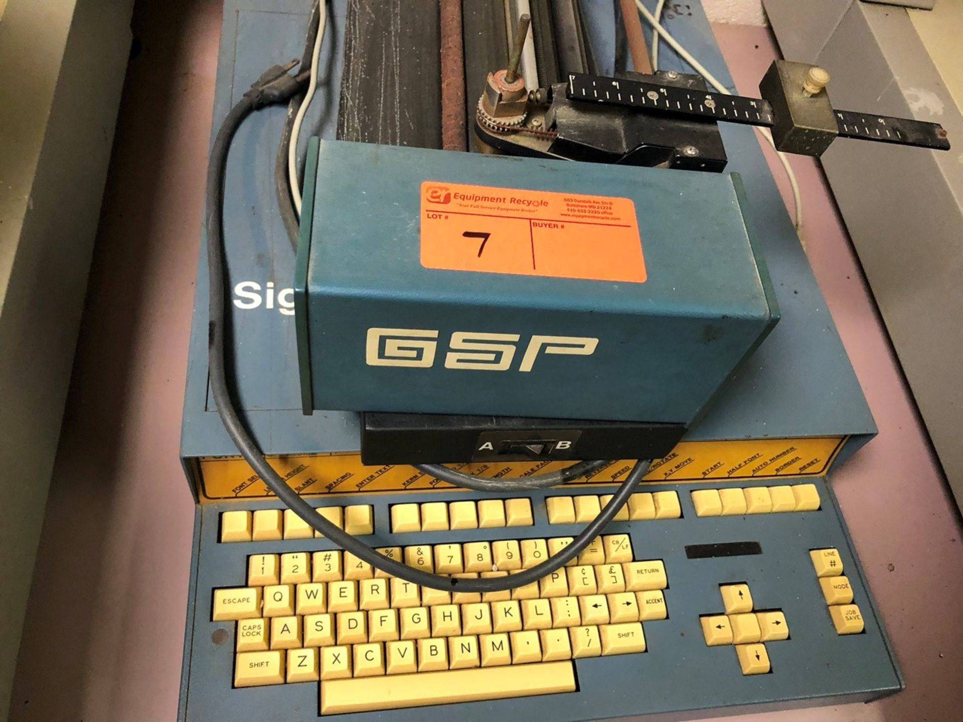 Lot 7 - GSP Vinyl Lettering Machine