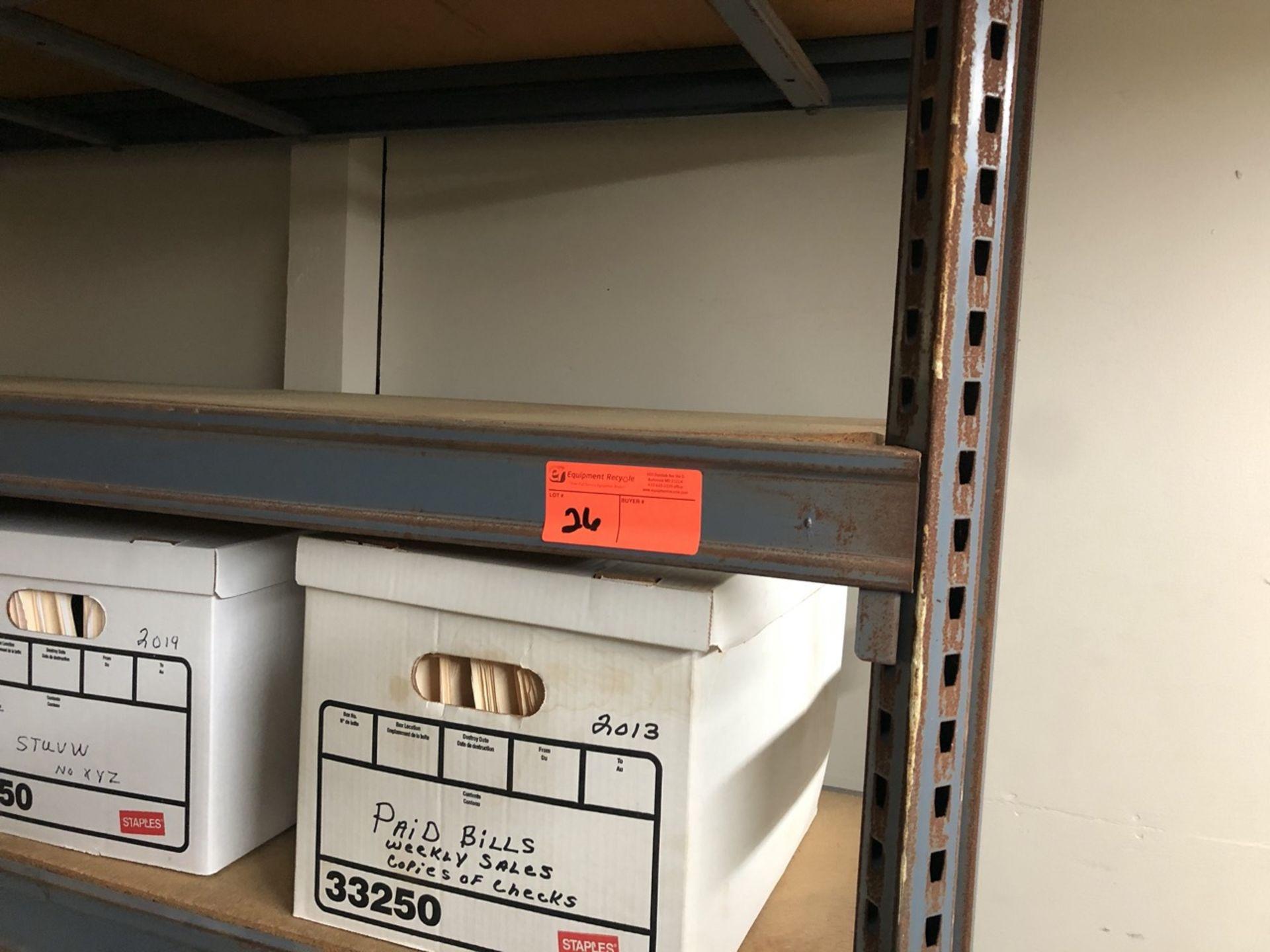 Lot 26 - Metal Shelf 6' no contents