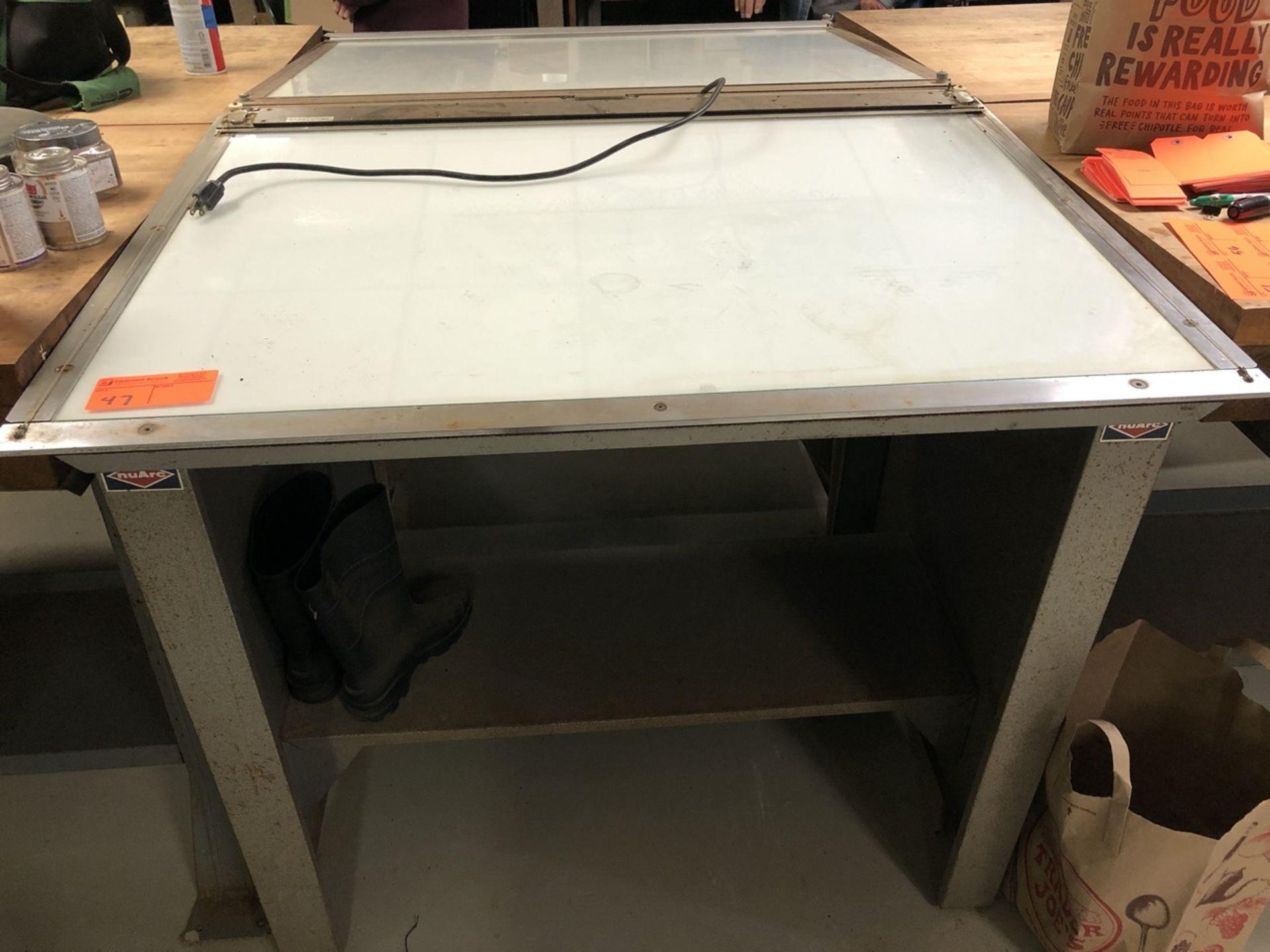 """Lot 47 - Nuarc Light Table VLT 42F with Straight Edge 30"""" X 42"""""""