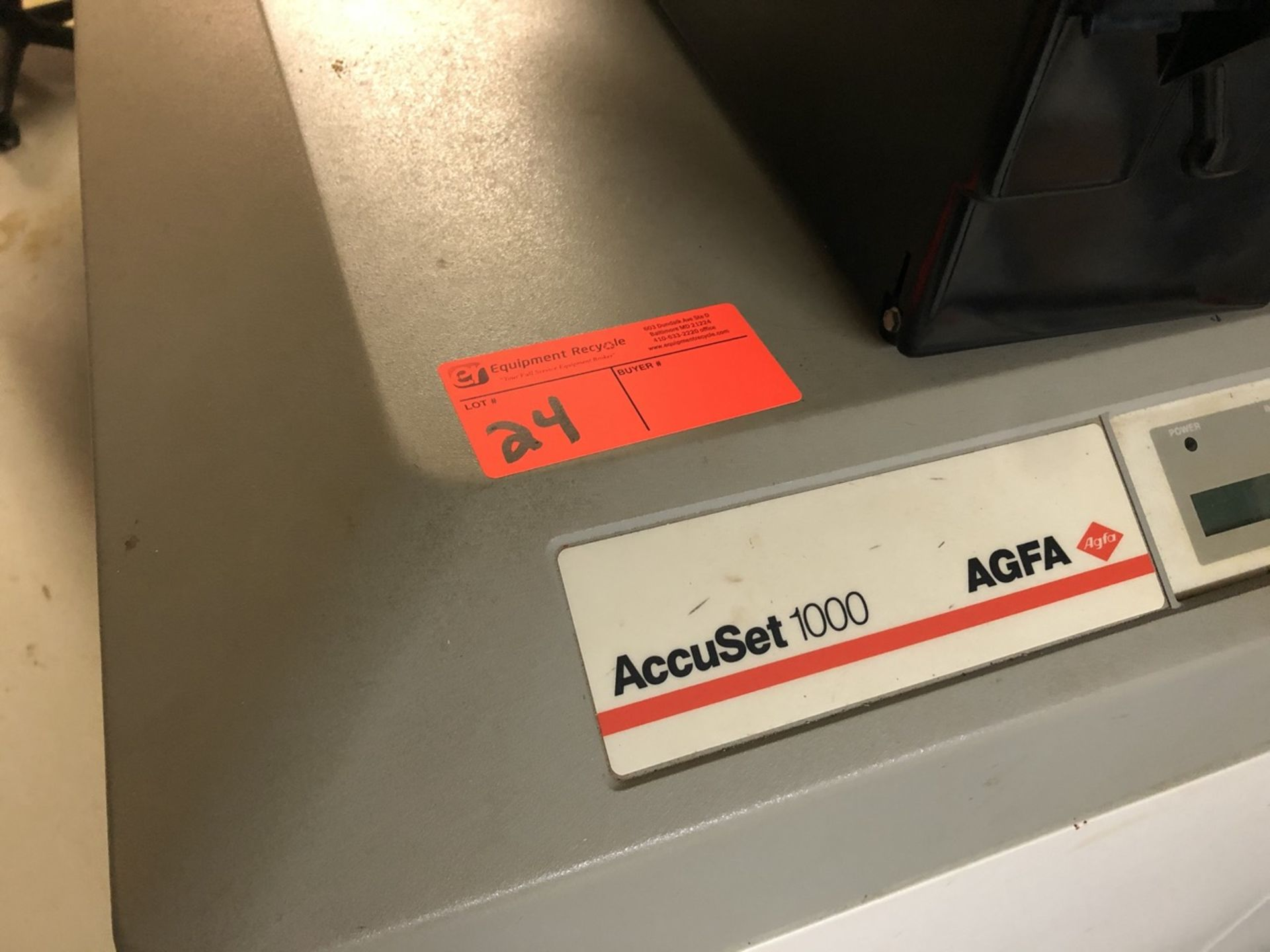 Lot 24 - Accuset 1000 AGFA For Parts Only