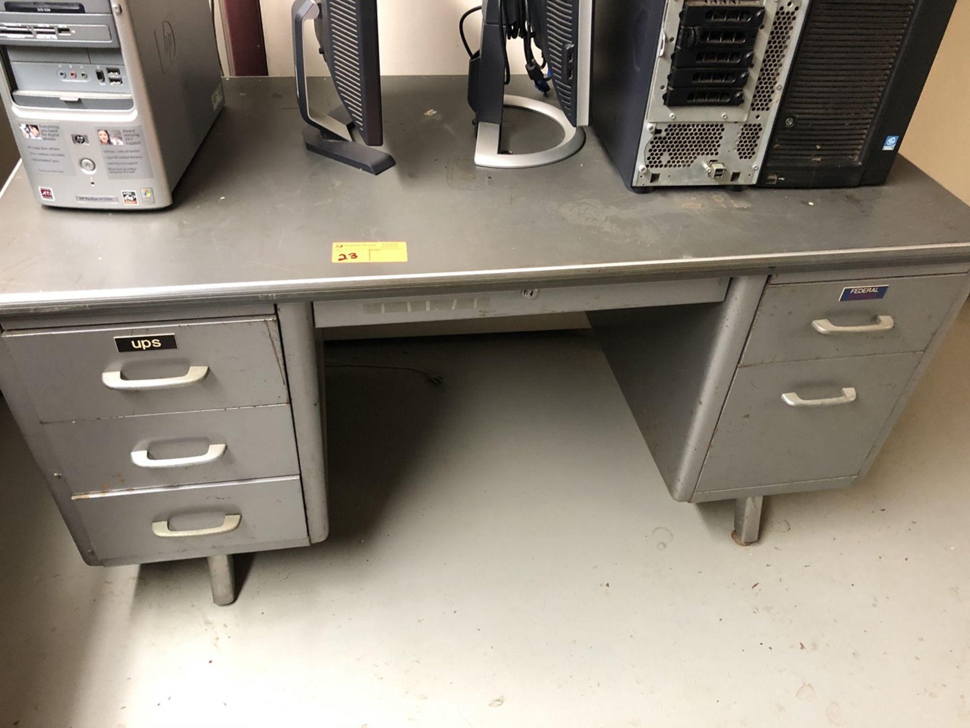 Lot 23 - Metal Postal Desk