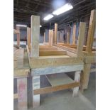"Wooden Work Tables Heavy Duty Lot of 2 Approx. 96"" x 48"" x 36"""