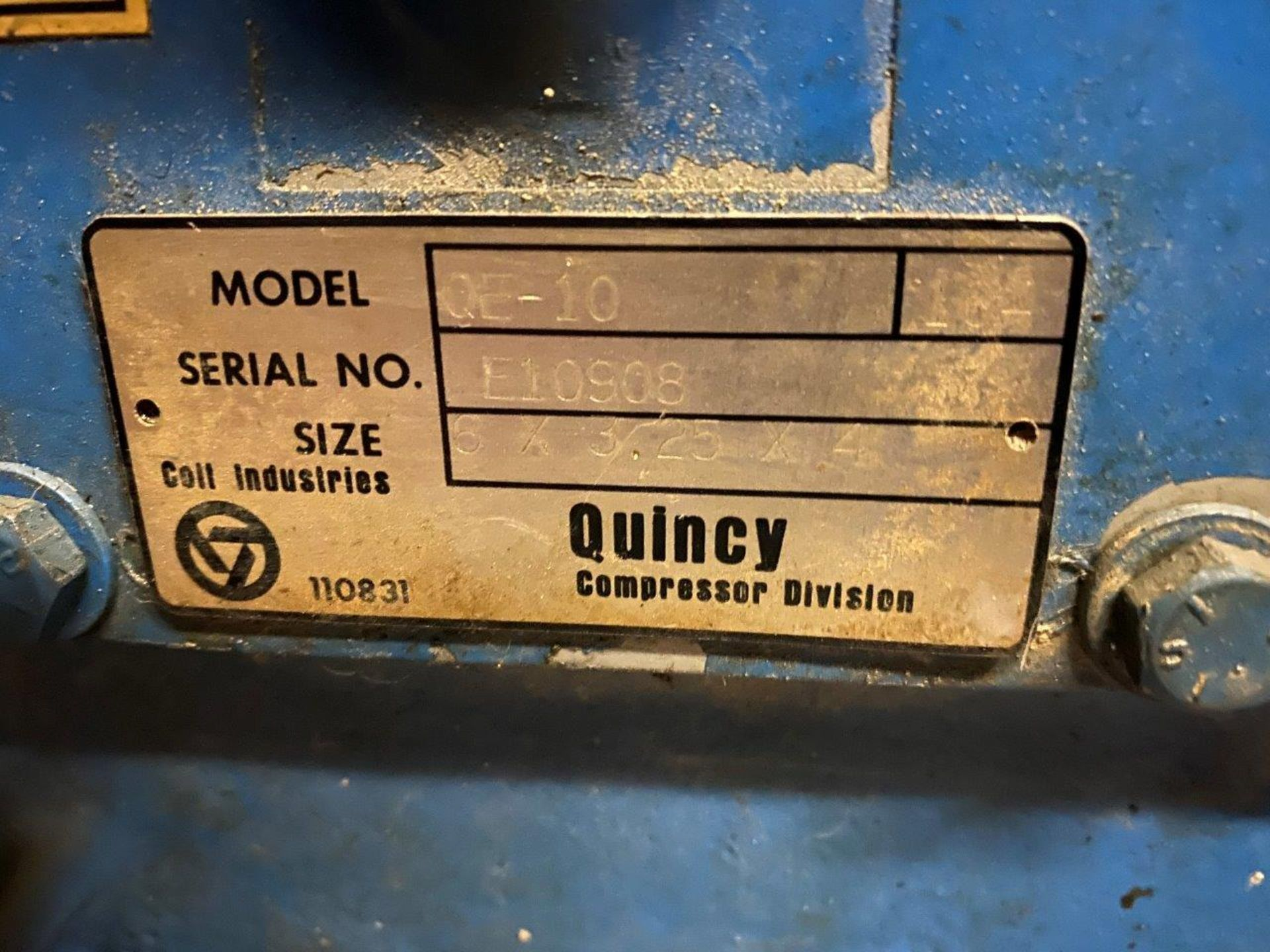 Quincy QE15 Air Compressor 15 HP Phase 3 230/460 Volt - Image 7 of 9