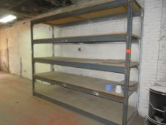 "Warehouse Pallet Racking/ Wooden Shelving 1 Section approx. 126""x 36""x 98"""