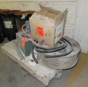 "Railroad Cart with Contents Compressors - Heaters Cart approx 51""x 27"" x 16"""