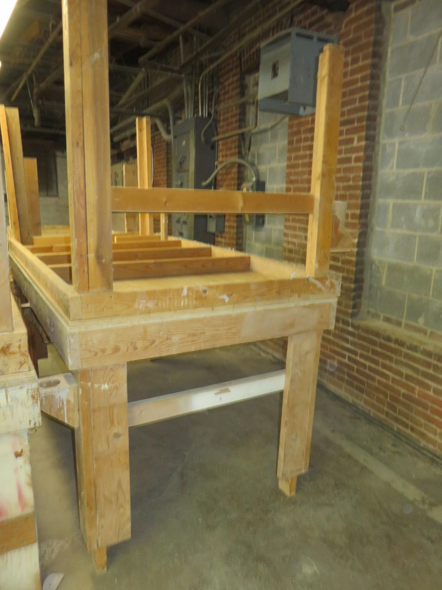 """Wooden Work Tables Heavy Duty Lot of 2 Approx. 96"""" x 48"""" x 43"""""""