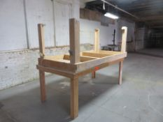 "Wooden Work Table Lot of 2 approx 96"" x 48"" x 37"""