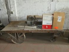 "Railroad Cart with Contents approx cart size 73""x 36"" x 19.5"""