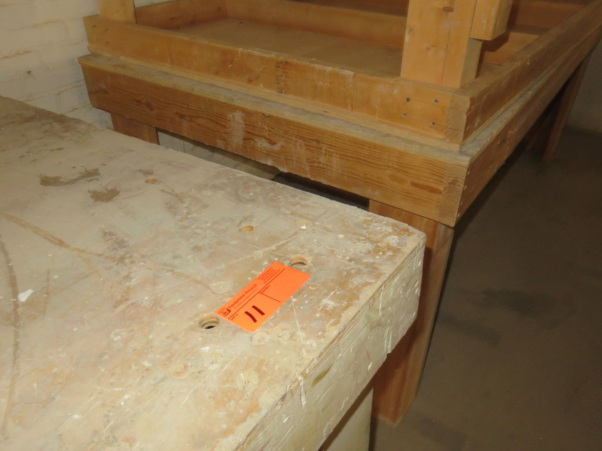 """Heavy Duty Wooden Work Tables Lot of 3 approx. 48 """"x 96"""" x 37"""" - Image 2 of 2"""