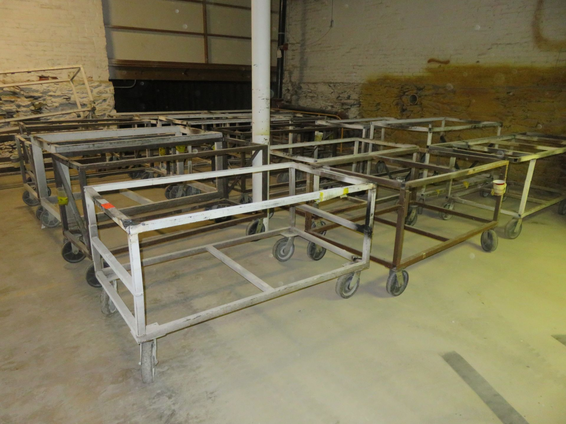 """Heavy Duty Rolling Carts Lot of 19 approx. 64""""x 36""""x 34"""" - Image 3 of 4"""