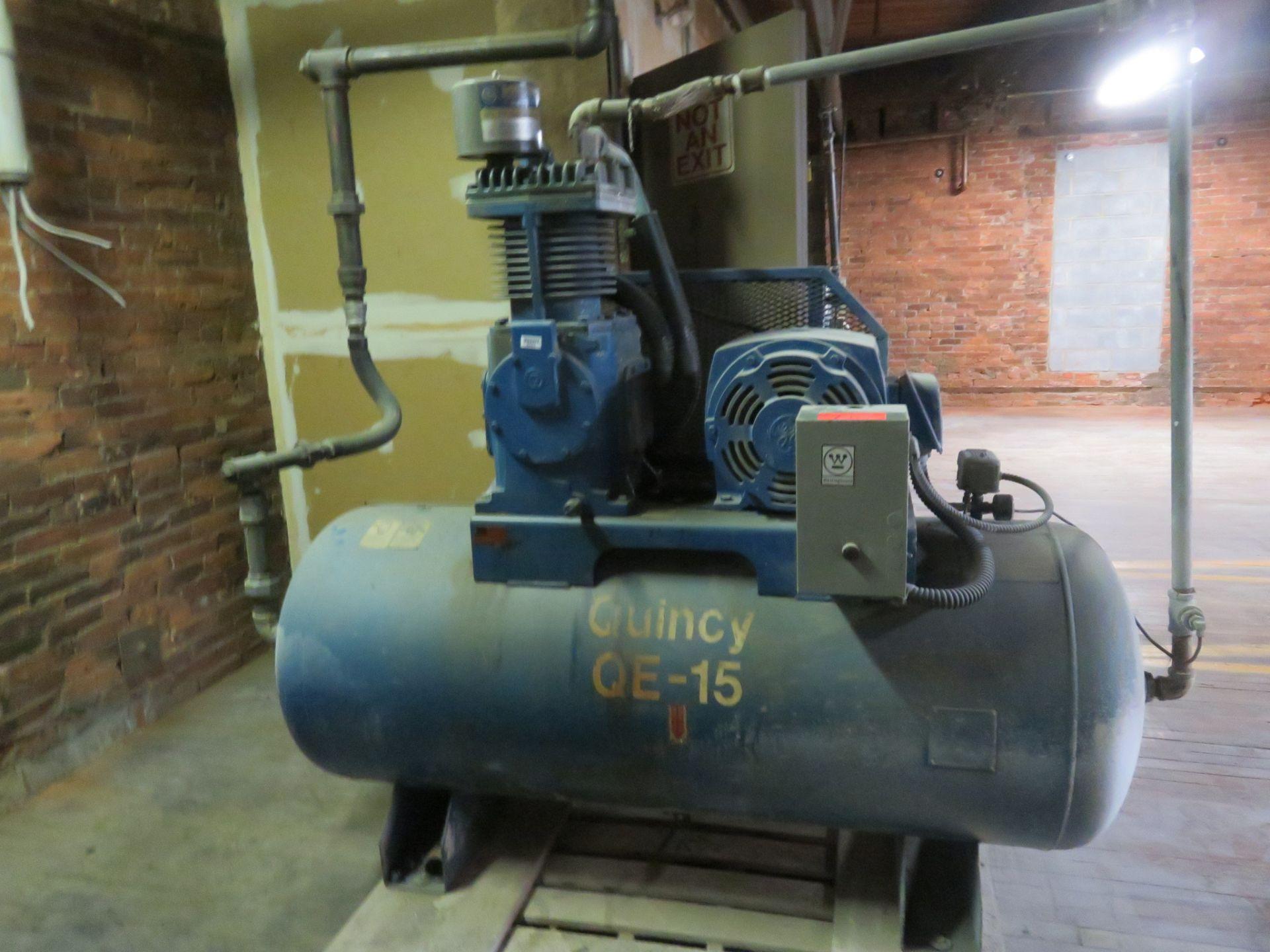 Quincy QE15 Air Compressor 15 HP Phase 3 230/460 Volt