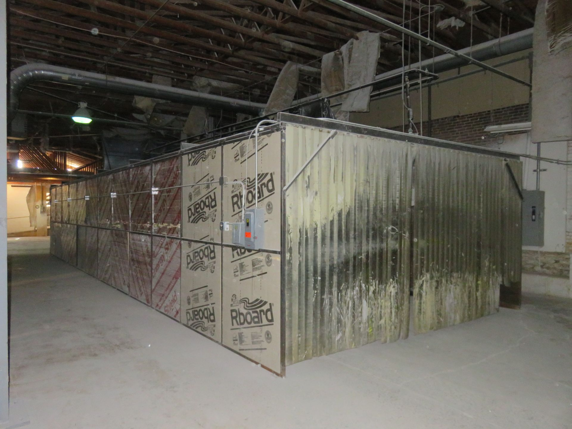 Custom Welded Drying Booth approx. 48' x 16' x 8 - Image 6 of 8