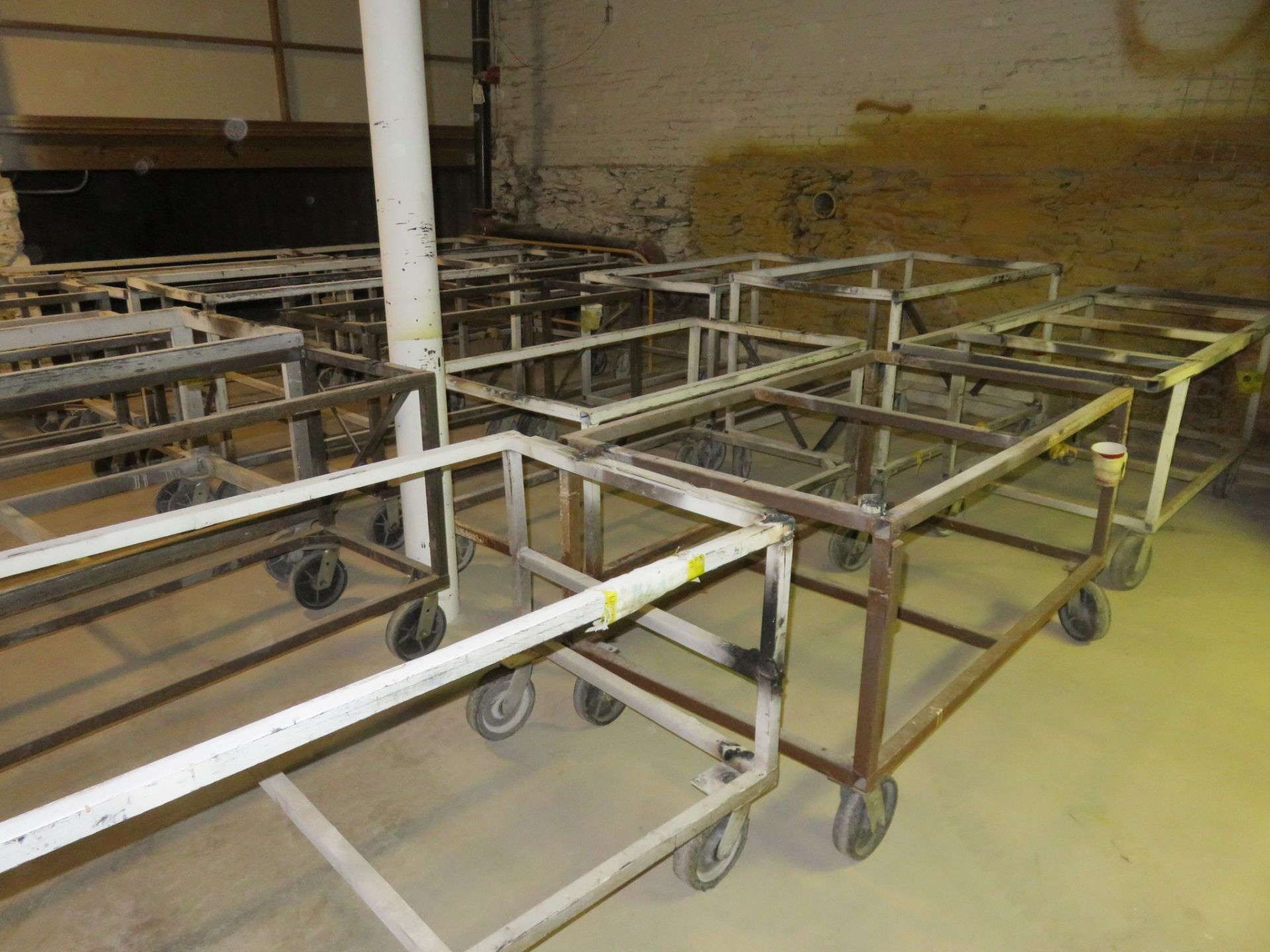 """Heavy Duty Rolling Carts Lot of 19 approx. 64""""x 36""""x 34"""" - Image 2 of 4"""