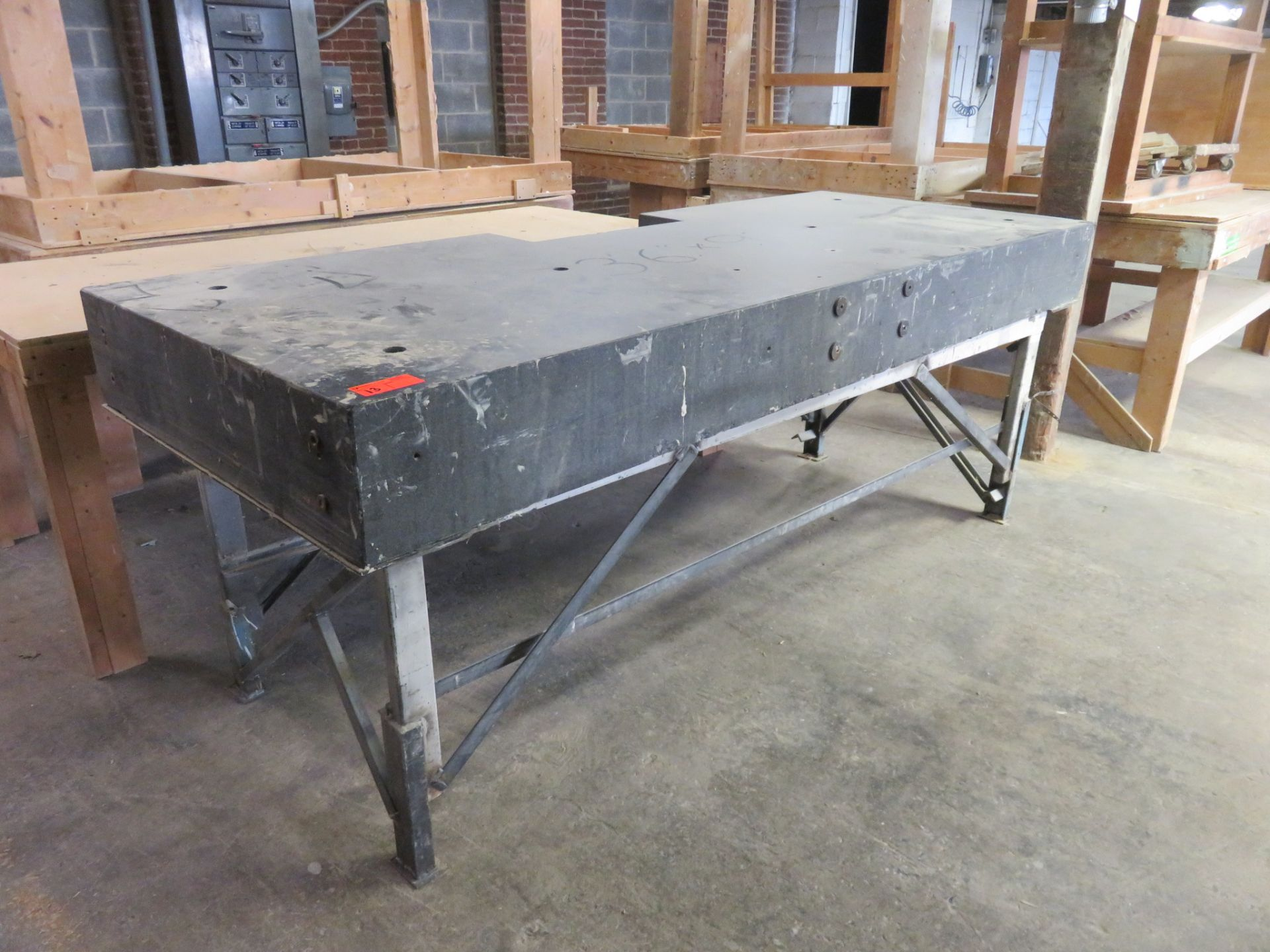 "Granite Work Top Packing Table approx. 108"" x 42""x 40.5"""