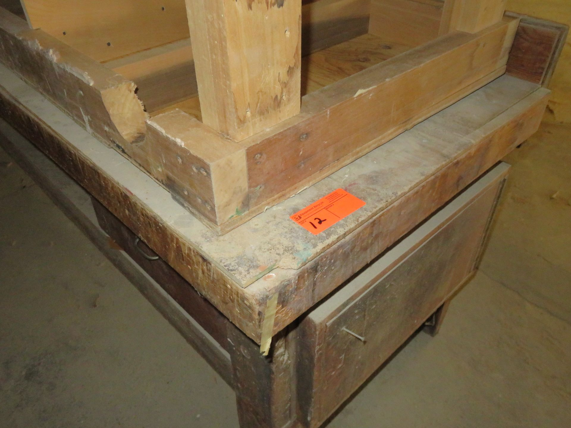 "Heavy Duty Wooden Work Tables Lot of 2 approx 96""x 35""x 34"" & 72""x 30""x 35"" - Image 2 of 2"