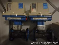 Unused Lot of 2 Worcester Controls CPT Actuated 1.5 Inch Ball Valves