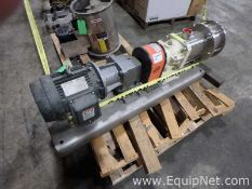 Unused Mouvex Stainless Steel Positive Displacement Pump On Frame